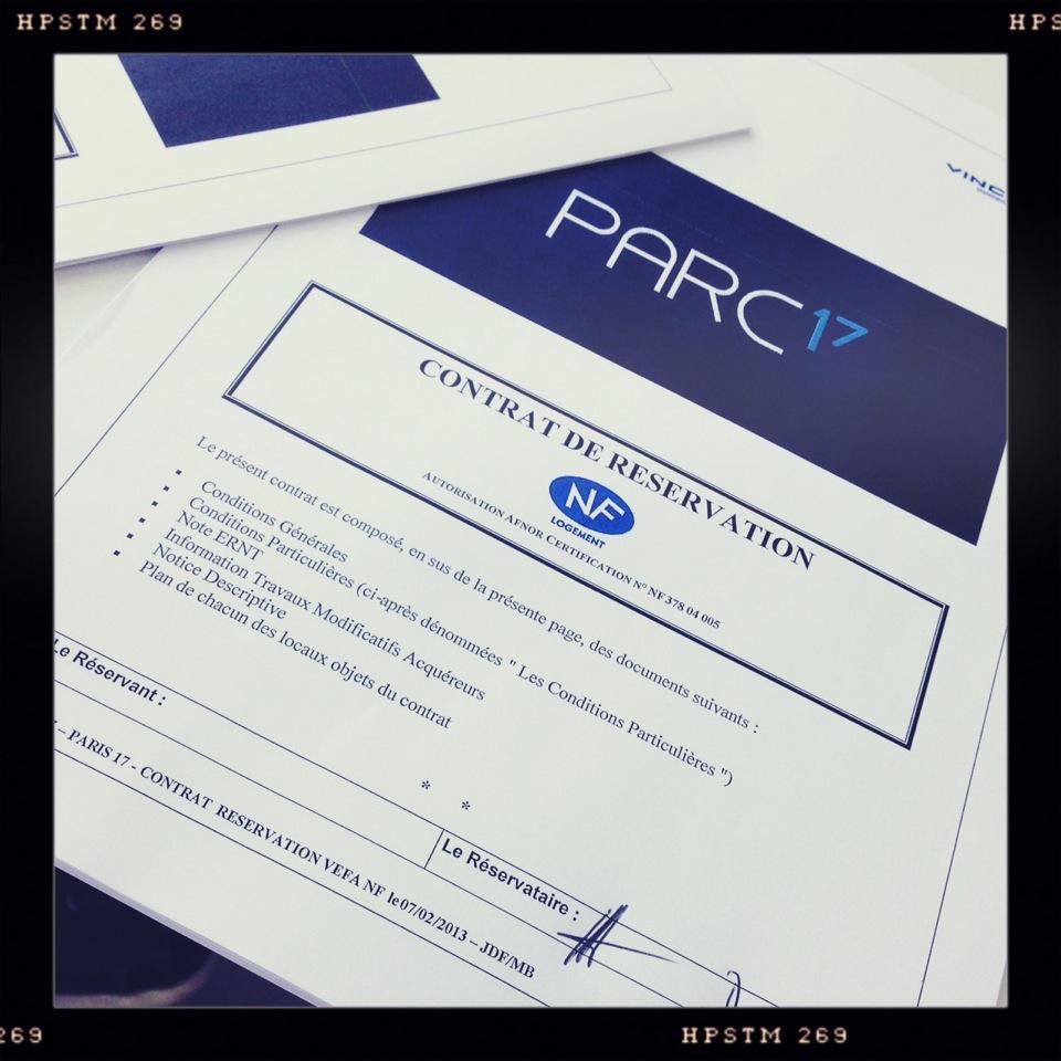 Contrat Réservation