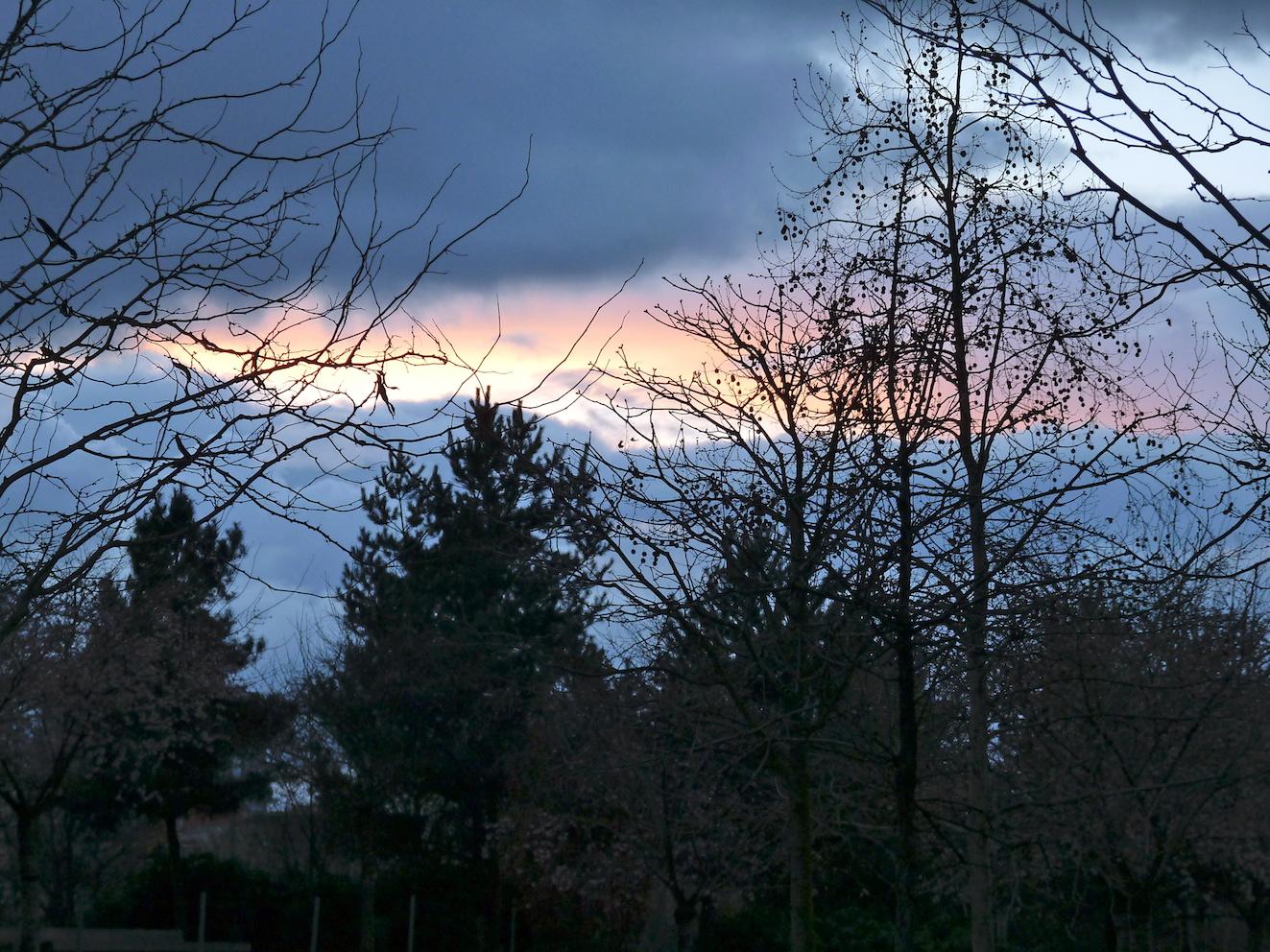 Ciel chargé sur le Parc Clichy-Batignolles