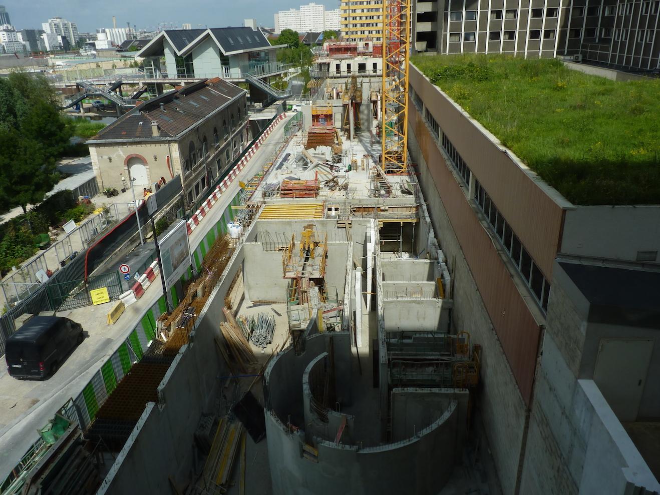 Le chantier dans sa globalité au 14 juin 2014