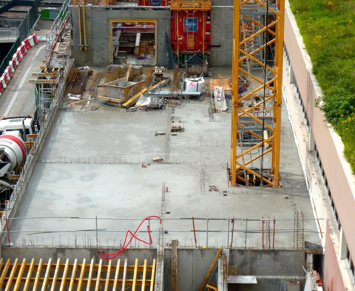 Dalle du 2° étage, Bâtiment B