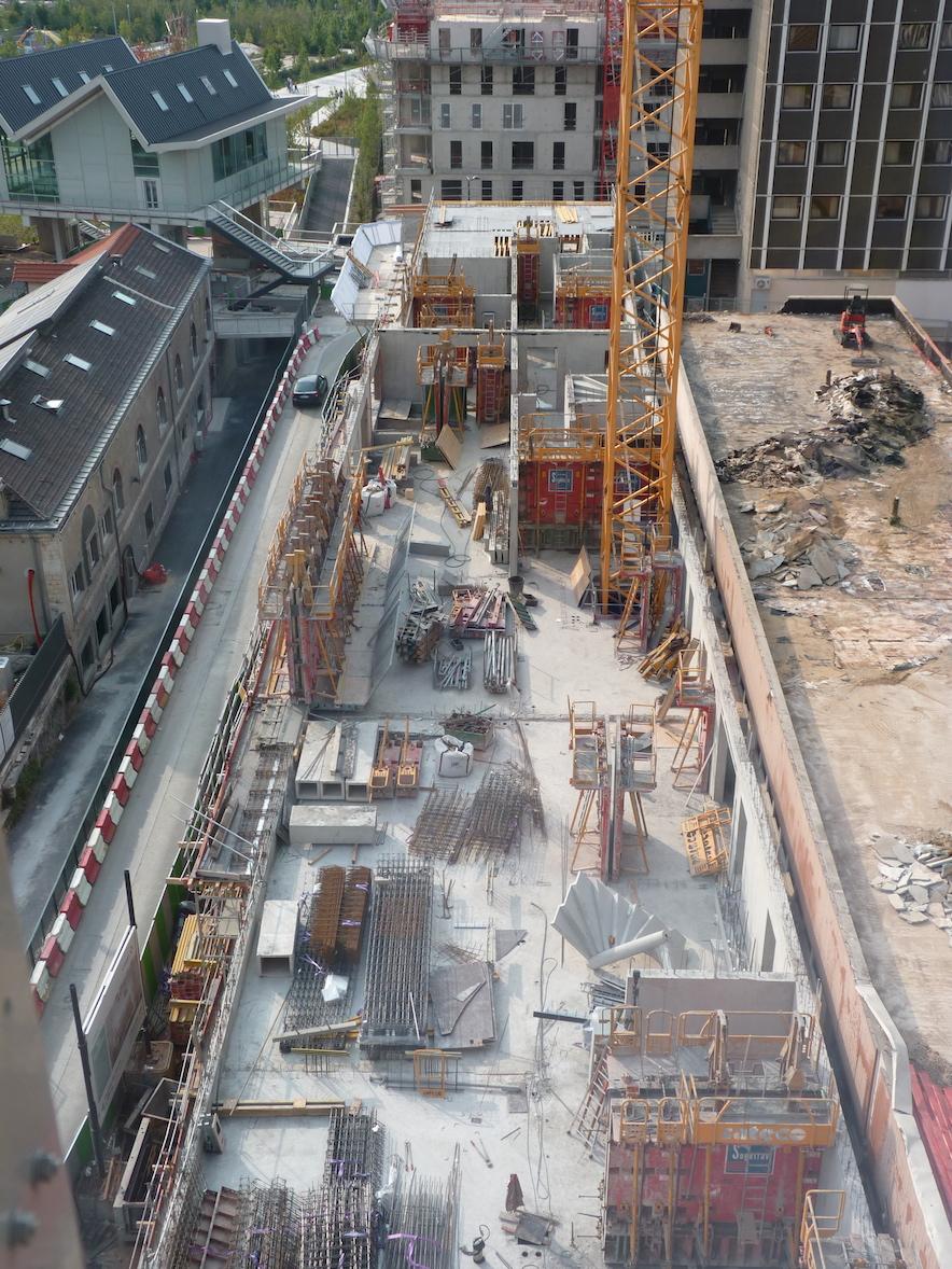 Vue du chantier de haut