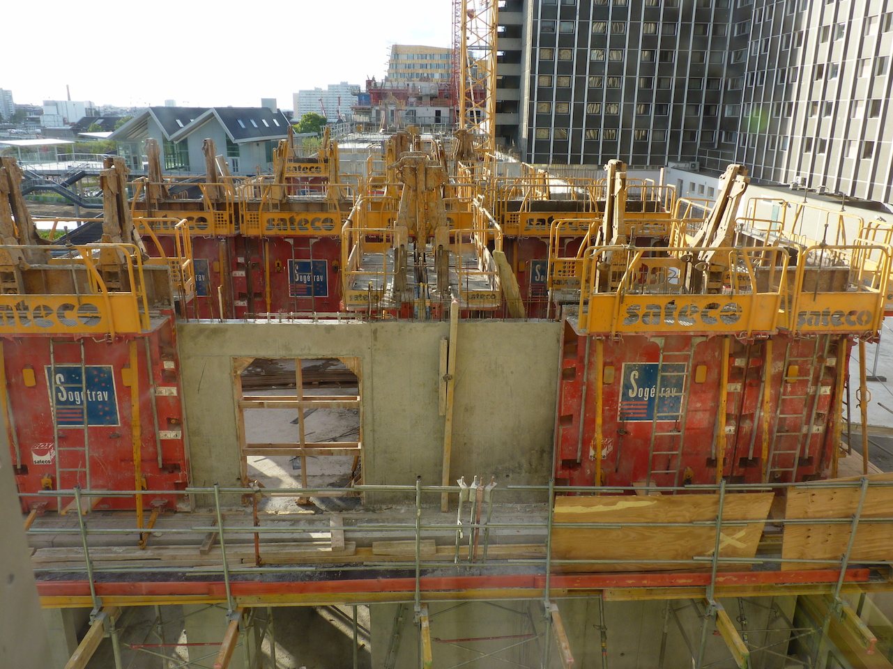 Vue du 3° étage à l'horizontale depuis d'Est en Ouest