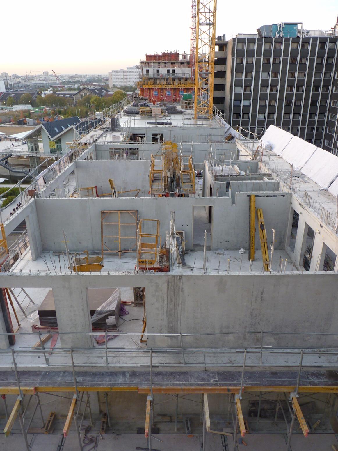 Parc 17, vue générale du chantier, 31 octobre 2014