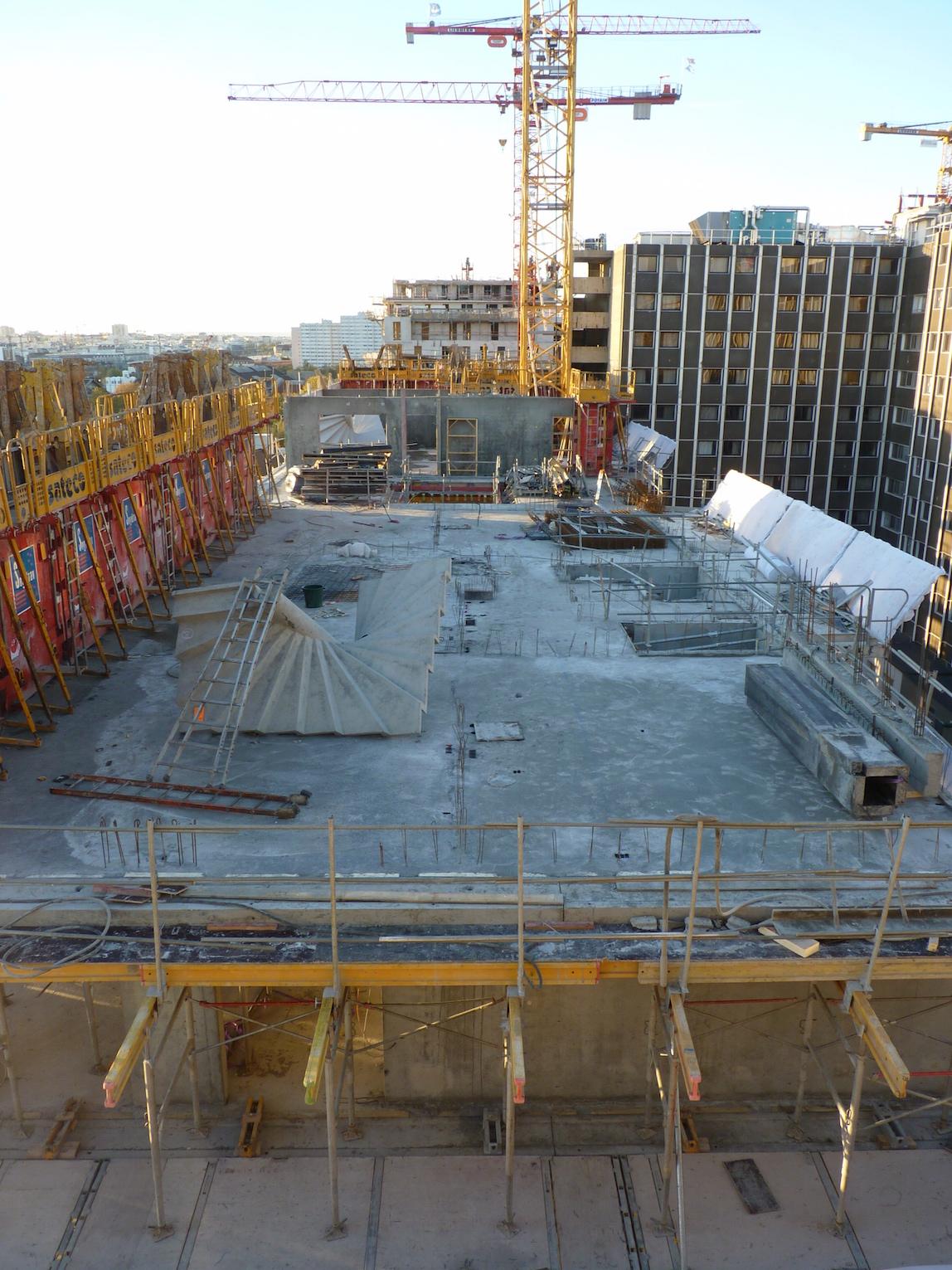 Parc 17, Vue générale du chantier, 7 novembre 2014